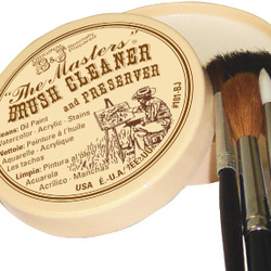 The Masters Brush Cleaner and Preserver with Brushes